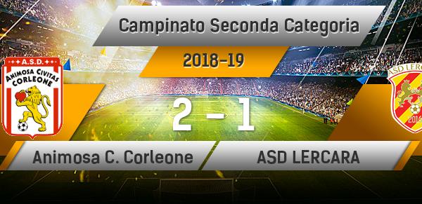 Animosa Civitas Corleone 2-1 Asd Lercara.